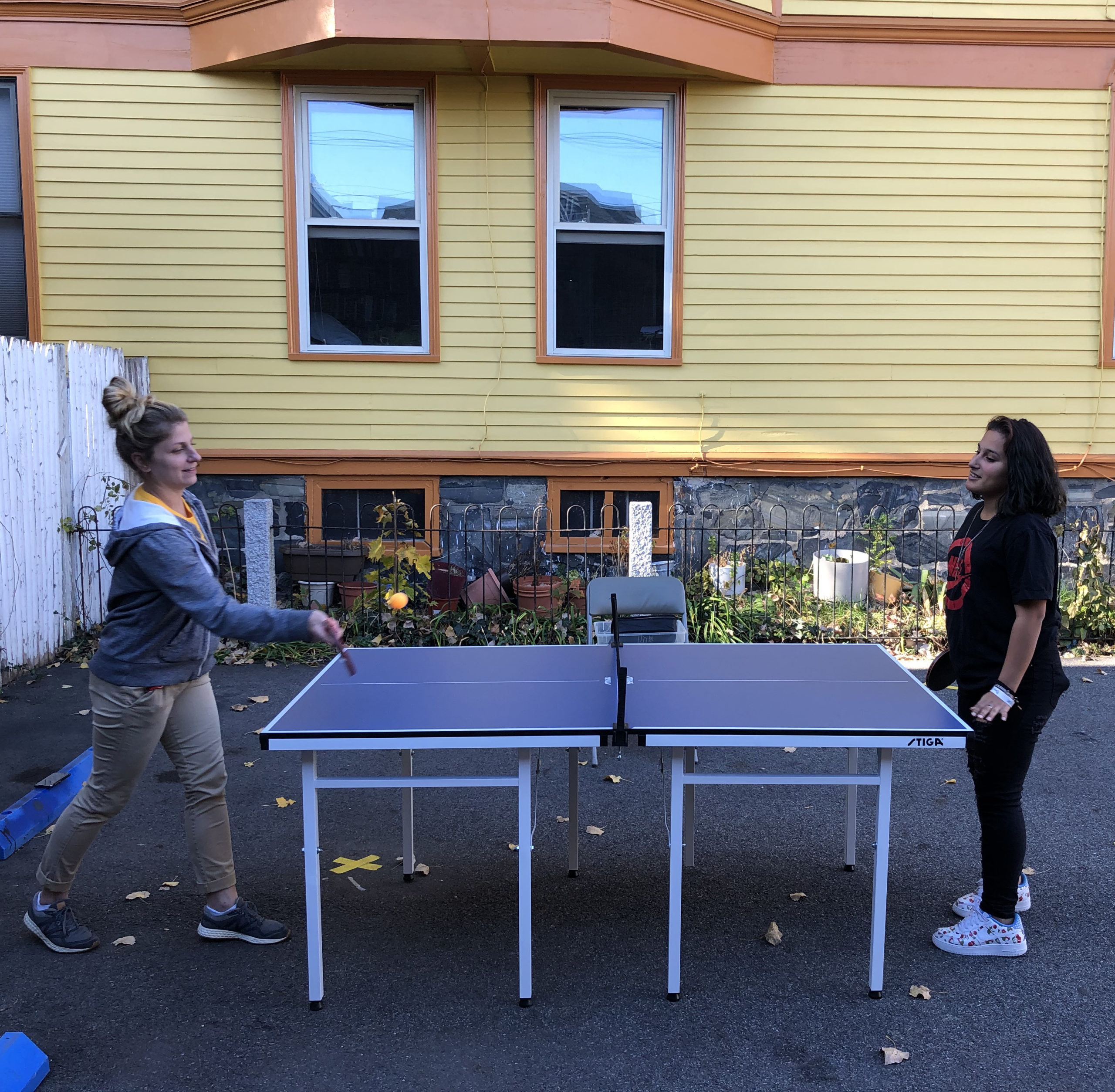 Playing pingpong