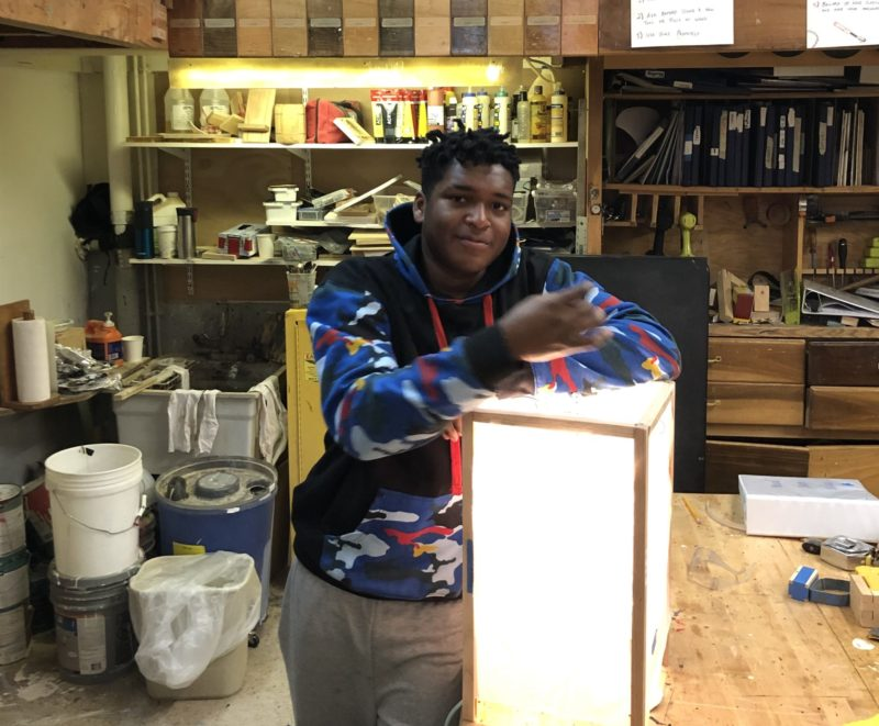 Student in a workshop